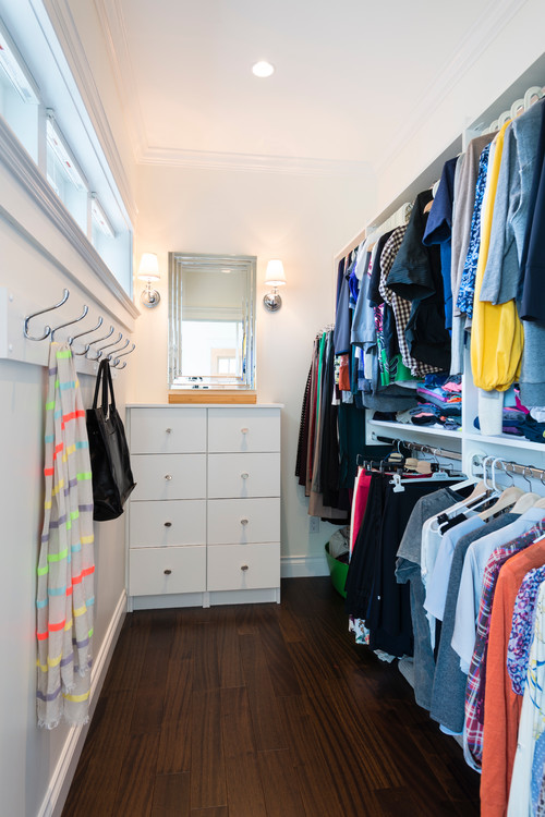 well lit closet