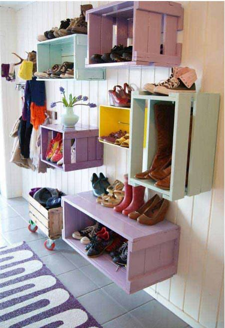crates for shoes