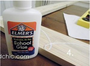 glue on wood