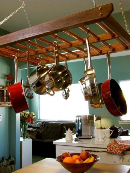 pots on ceiling