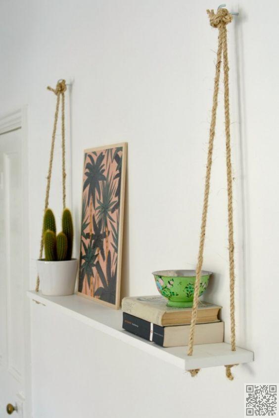 58e6bc17ffd3 21 DIY ιδέες για ράφια με σχοινιά!