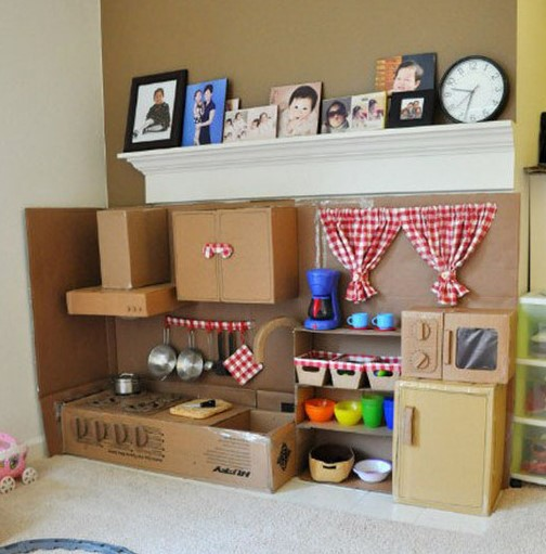 cfdc23428594 14 Φανταστικές ιδέες για DIY παιδικές κατασκευές από χάρτινη κούτα ...