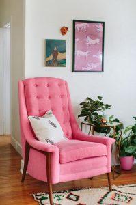 roz polithrona, gialino trapezaki