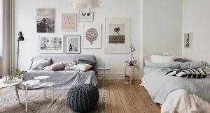 saloni kai krevati mazi