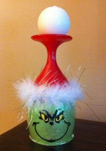 the Grinch candle holder