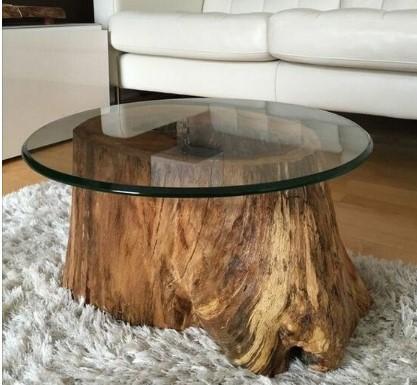 28 Φανταστικά τραπεζάκια σαλονιού από ακατέργαστο ξύλο