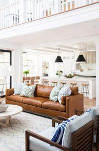 καφέ καναπές
