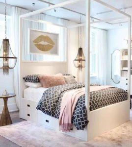 κρεβατοκάμαρα για κοριτσίστικο δωμάτιο