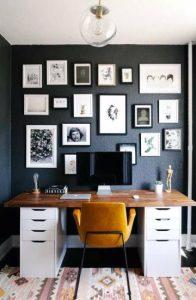 τοίχος με εικόνες σε κάδρα