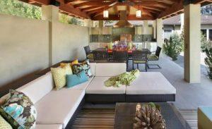 γωνιακός καναπές για κήπο