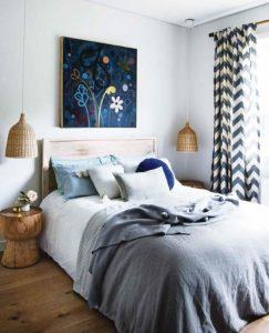 υπνοδωμάτιο με μοντέρνες λεπτομέρειες