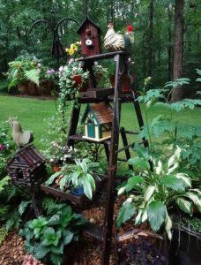 σκαλα για λουλουδια κηπου