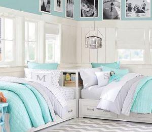 κρεβάτια στο χρώμα της μέντας