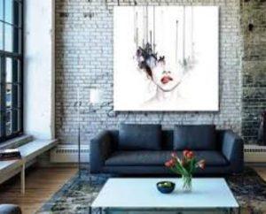 μεγάλος πίνακας για το σαλόνι