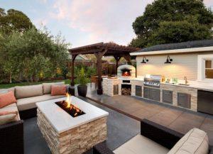 μοντέρνος σχεδιασμός για καθιστικό κήπου