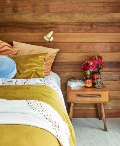 μοντέρνο ξύλινο υπνοδωμάτιο