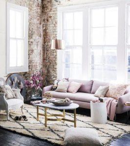 παστέλ χρώματα σε σαλόνι