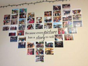φωτογραφίες στον τοίχο
