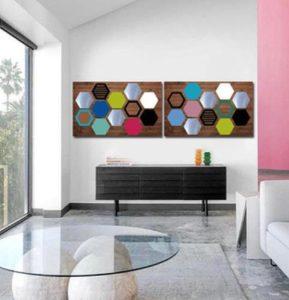 πολύχρωμο διακοσμητικό τοίχου