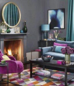 μοντέρνο σαλόνι με χρώμα