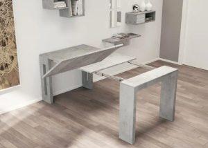 επεκτεινόμενο τραπέζι για μικρά διαμερίσματα