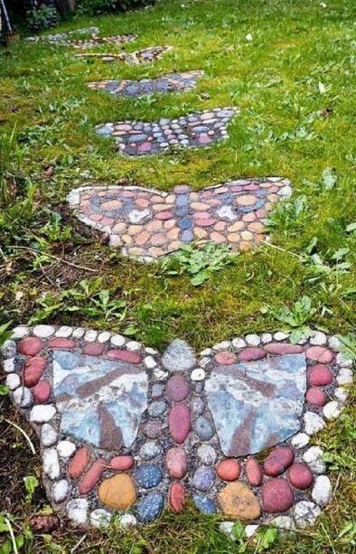 μονοπάτια κήπου πέτρες