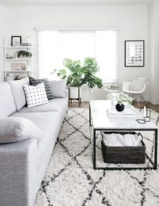 σαλόνι σε λευκό χρώμα