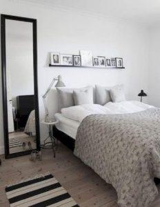 ασπρόμαυρη μοντέρνα διακόσμηση δωματίου