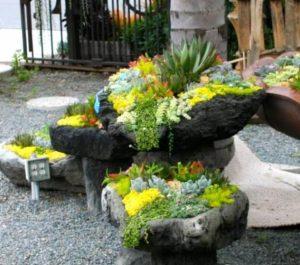 διακοσμητικές πέτρες με λουλούδια
