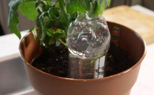 έξυπνες ιδέες μπουκάλια πότισμα φυτών