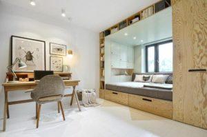 υπνοδωμάτιο με γραφείο