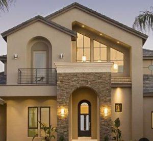 μοντέρνα εξωτερική όψη σπιτιού