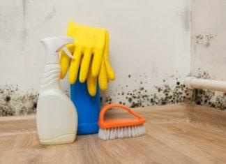 μείγμα με χλωρίνη για καθάρισμα μούχλας