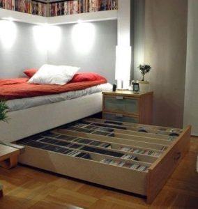κρεβάτι με μεγάλο συρτάρι από κάτω