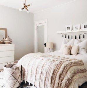 διακόσμηση υπνοδωματίου με λευκά χρώματα