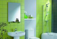 πράσινα πλακάκια μπάνιου
