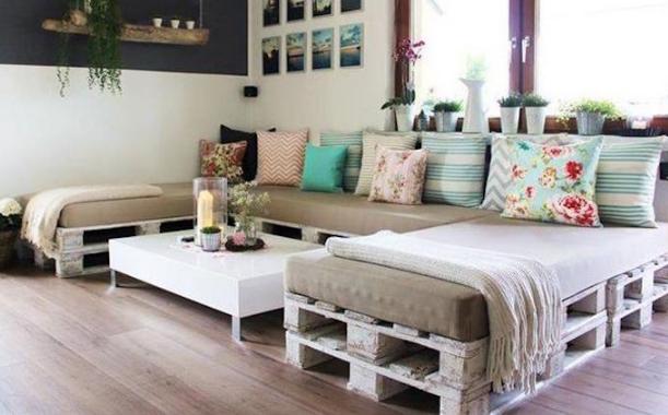 diy καναπές παλέτες