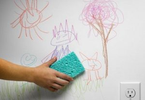 καθαριστικό για να βγάλεις την κηρομπογιά από τον τοίχο
