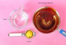 καθαρισμός ανοξείδωτων μαγειρικών σκευών με λεμόνι και νερό