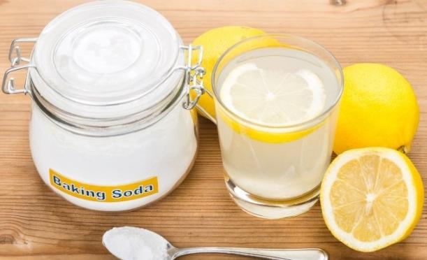 μαγειρική σόδα λεμόνι