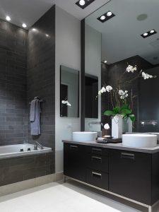 ασπρόμαυρο μπάνιο trends διακόσμησης χειμώνας 2020