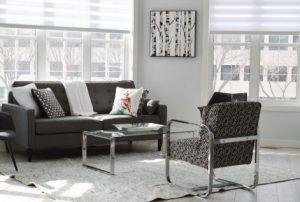 μοντέρνο σαλόνι σε ενοικιαζόμενο σπίτι