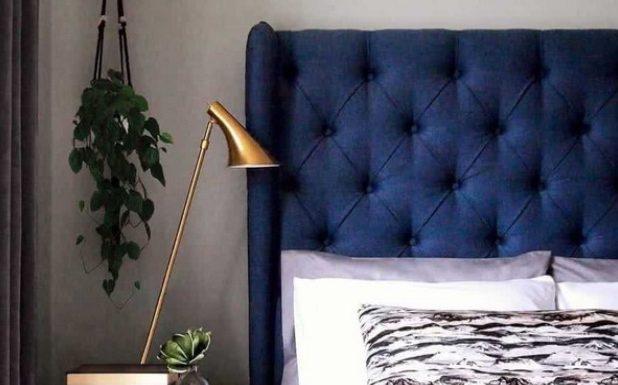 μπλε χρώμα τοίχων για την κρεβατοκάμαρα