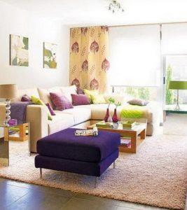 μοντέρνοι συνδυασμοί χρωμάτων για το σαλόνι