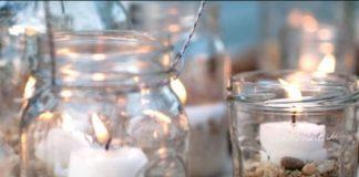 άδεια βάζα κεριά