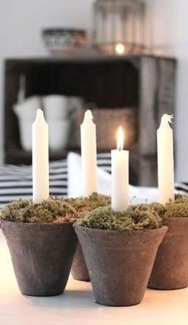 κερια σε κηροπήγια γλάστρες