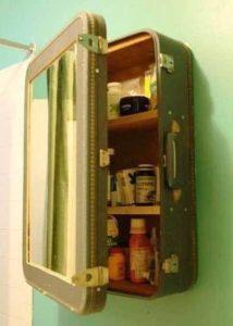 παλιά βαλίτσα ντουλαπάκι φαρμακείου