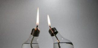 παλιές λάμπες σε κεριά