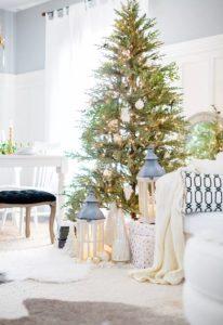 σαλόνι διακόσμηση χριστούγεννα