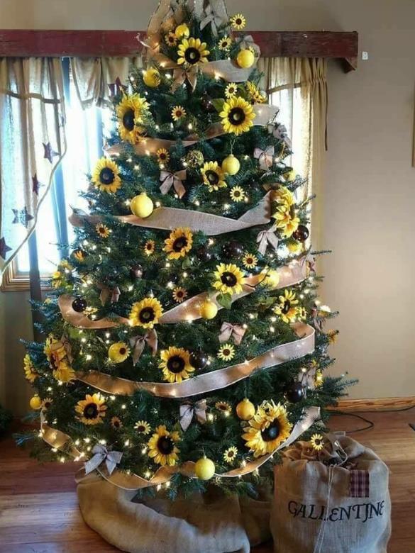 δέντρο με κίτρινες μπάλες